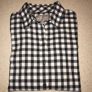 Banana Republic Soft Wash Gingham Button Up Small